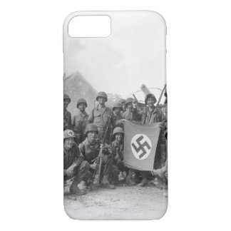 Lined up in front of a wrecked_War image iPhone 7 Case