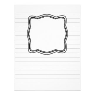 Lined Writing Paper With Picture Box Letterhead Design