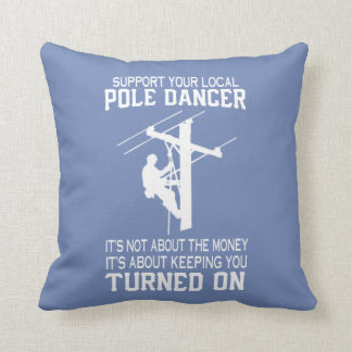 LINEMAN THROW PILLOW