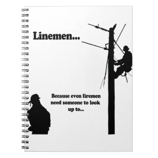 Linemen Because Spiral Note Books