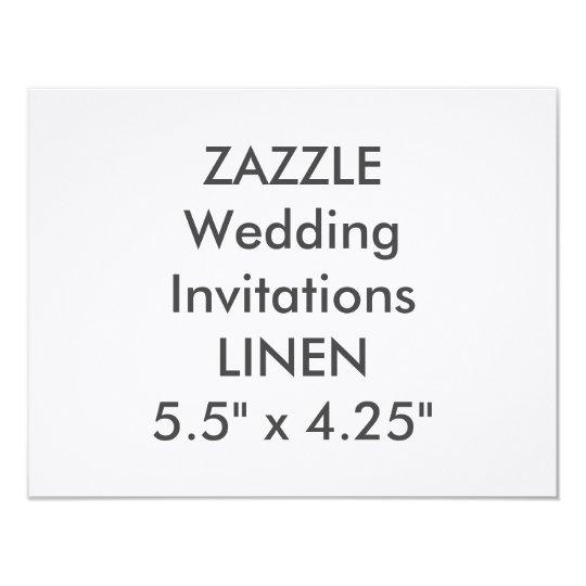 """LINEN 100lb 5.5"""" x 4.25"""" Wedding Invitations"""