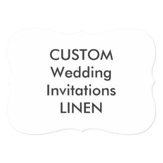 "LINEN 100lb 7x5"" Bracket Shape Wedding Invitations"
