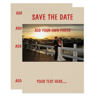 "Linen 5"" x 7"",SAVE THE DATE  envelopes included Card"