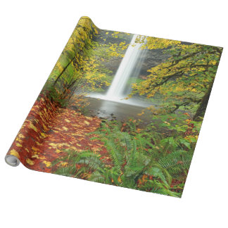 "Linen Autumn Wrapping Paper, 30"" x 30'"