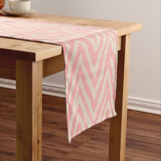 Linen Beige and Pink Zebra Print Short Table Runner
