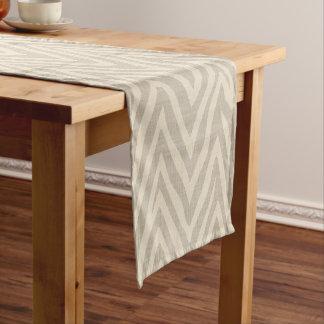 Linen Beige and Taupe Zebra Print Short Table Runner