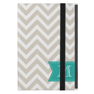 Linen Beige Chevron Custom Monogram Case For iPad Mini