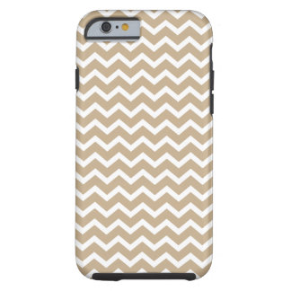 Linen Beige Chevrons Pattern Tough iPhone 6 Case