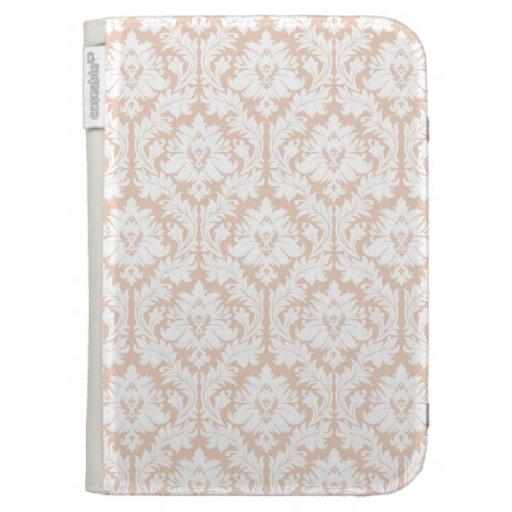 Linen Beige Damask Kindle 3 Cases
