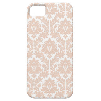 Linen Beige Damask Pattern Case For The iPhone 5