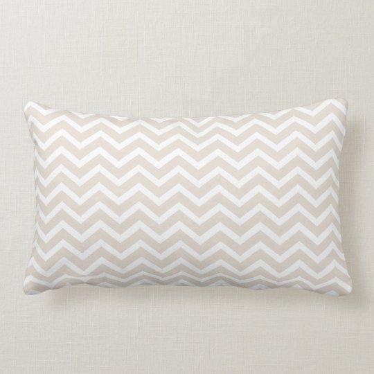 Linen Chevron Lumbar Pillow