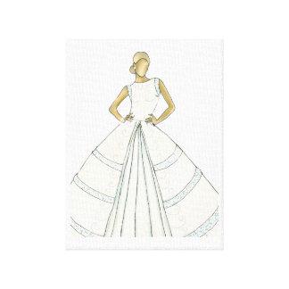 Linen cloth of bride canvas print