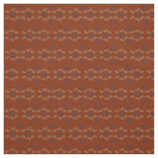Linen Fabric rust tan blue custom