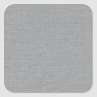 Linen Fabric Texture Background // Chelsea Grey Square Sticker