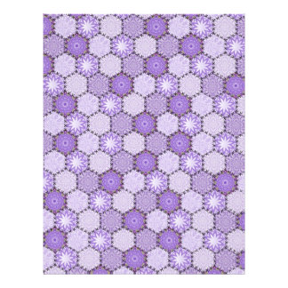 Linen Finish paper  Patchwork lilac / purple