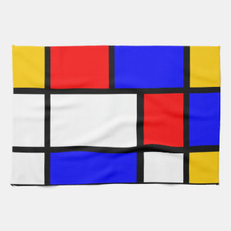 Linen house Mondrian style Towel