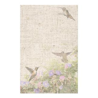 Linen Hummingbird Stationery