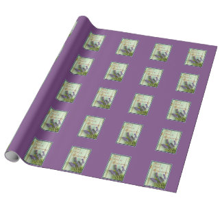 Linen Lavender Wrapping Paper