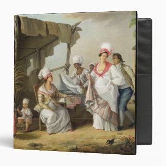 Linen Market, Roseau, Dominica, c.1780 (oil on can Vinyl Binder
