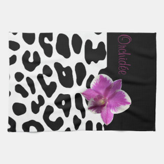 Linen of kitchen Leopard/Orchis Kitchen Towel