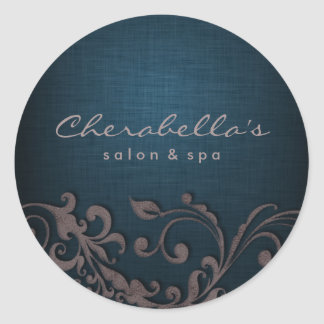 Linen Salon spa sticker denim blue beige brown
