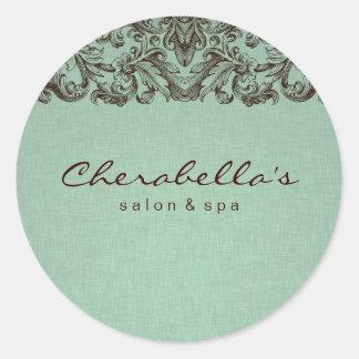 Linen Salon spa sticker mint brown 2