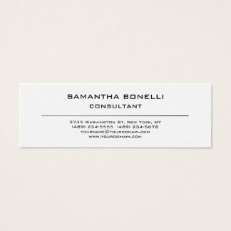 Linen Skinny Plain Elegant Attractive Minimalist Mini Business Card
