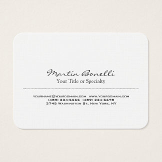 Linen Special Unique Modern Professional Business Card