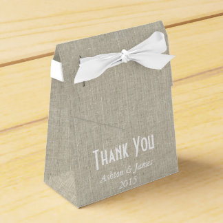 Linen Thank You Personalized Favor Box