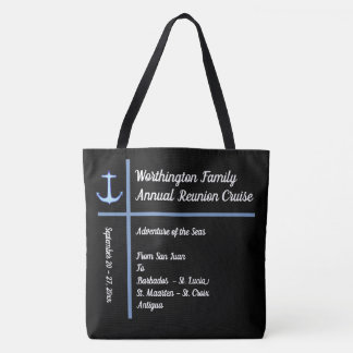 Liner Anchor Group Cruise Custom Tote Bag