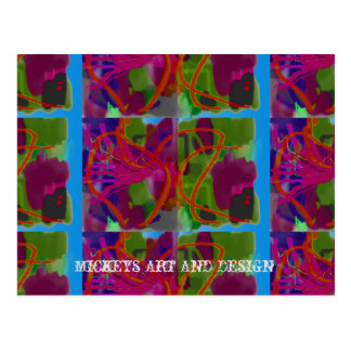 Lines and Curves by Mickeys Art And Design Postcard
