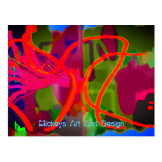 Lines and Tings by Mickeys Art And Design Postcard