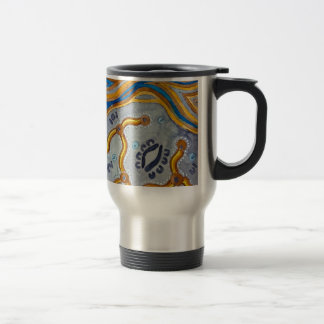 Lines - Authentic Aboriginal Arts Travel Mug