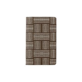Lines Brown Decorative Designer Modern Journal