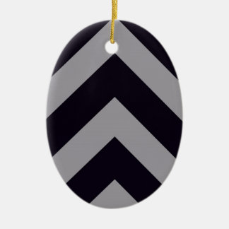 Lines Ceramic Oval Ornament