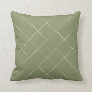 Lines clear olive greenness throw pillow