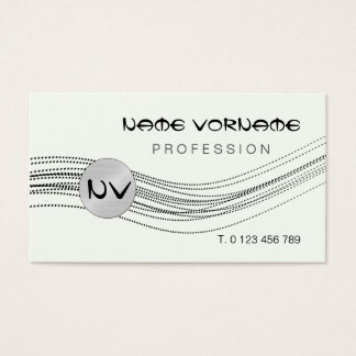 lines dots business card