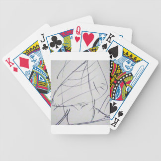 Lines of a Samurai Bicycle Playing Cards
