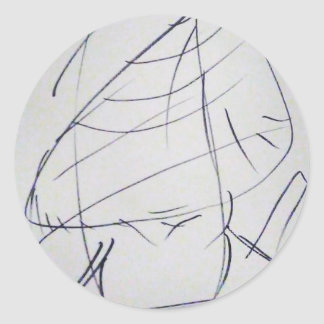 Lines of a Samurai Classic Round Sticker