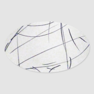 Lines of a Samurai Oval Sticker