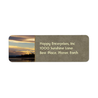 Lines Of The Earth Return Address Label