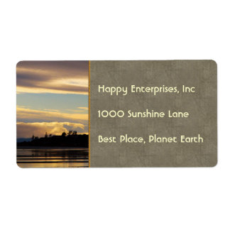 Lines Of The Earth Shipping Label