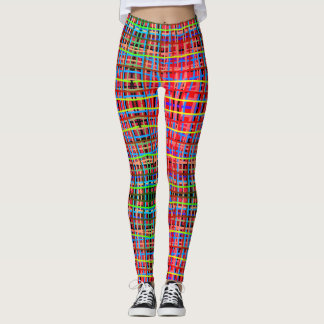lines on attractive colors leggings