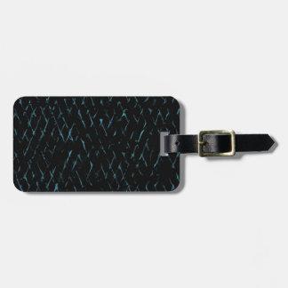 Lines on dark back luggage tag