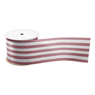 Lines Rose Gold Satin Ribbon