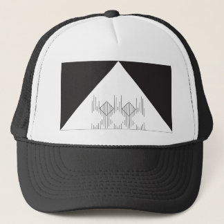 Lines Squares and a Triangle Trucker Hat