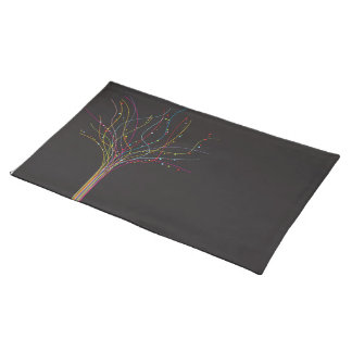 lines tree place mats