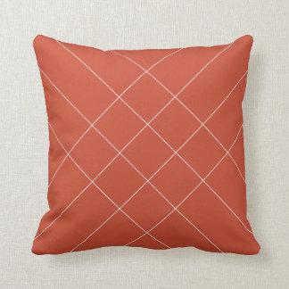 Lines warmbruin throw pillow