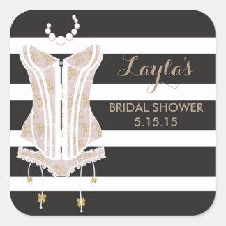 Lingerie Bridal Shower Favor Labels
