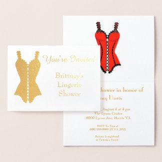 Lingerie Bridal Shower Foil Card